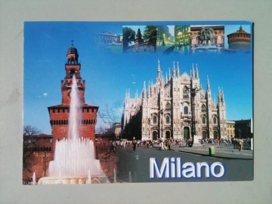 PARK(ing) DAY Carte postale Milan