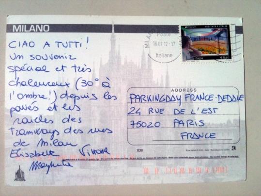 carte postale ou mettre l u0026 39 adresse