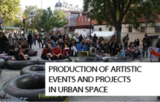 Production of artistic events and project in urban space