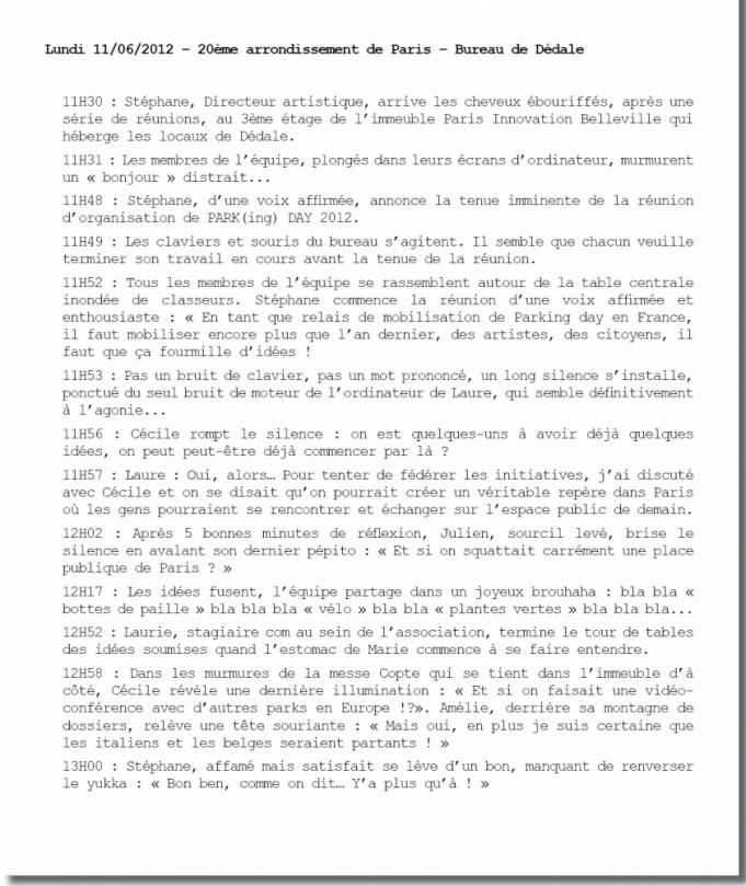 Rapport réunion pkd 2012