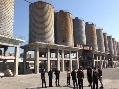 Repérages sur le site d'anciens silos près de Pékin