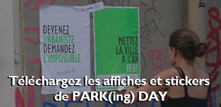 Télécharger affiches et stickers de PARK(ing) DAY